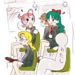 電車の中で騒がしい女子学生に囲まれた