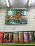 スーパーで見かけた多分馬の絵。